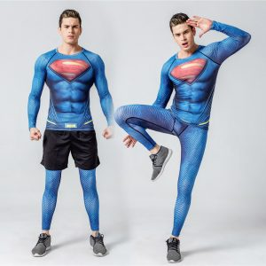 tenu grappling compression t shirt superman