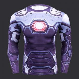 Tshirt compression cyborh iron man marvel