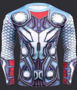 tshirt compression marvel super hero MMA