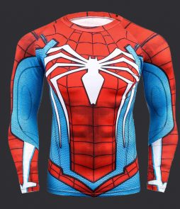 t shirt compression spiderman