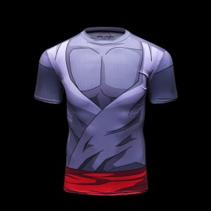 tshirt compression rashguard Black Goku